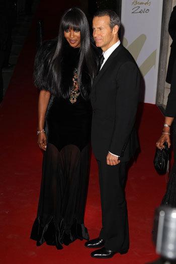 Наоми КЭМПБЕЛЛ и Владислав ДОРОНИН на вручении премии British Fashion Awards 7 декабря