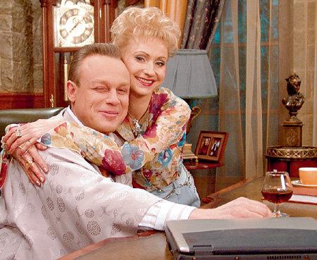 С Сергеем ЖИГУНОВЫМ на съёмках «Моей прекрасной няни»