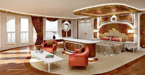 Спальня владельца находится на третьем этаже его апартаментов