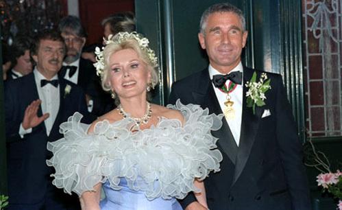 Жа Жа и Фредерик на собственной свадьбе