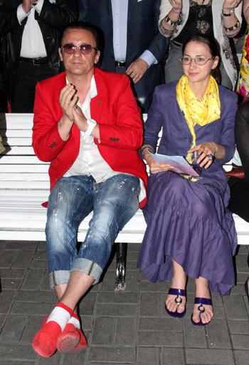 Олег МЕНЬШИКОВ с женой Настей
