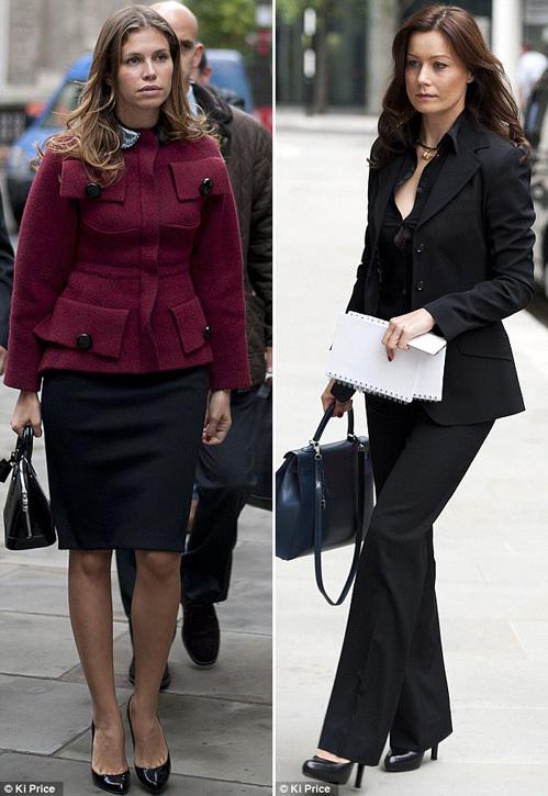 Пока их спутники жизни бьются в суде, Дарья ЖУКОВА и Елена ГОРБУНОВА дали повод таблоидам пообсуждать свои наряды (фото Daily Mail)