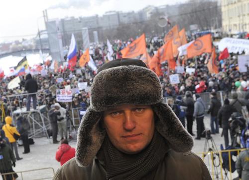 Алексей НАВАЛЬНЫЙ во время митинга на Болотной площади. Фото РИА