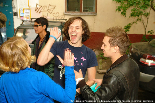 На съёмках «курса» было весело. Фото Дениса ИОРДАНОВА/официальная группа проекта vk.com/gai_germanika