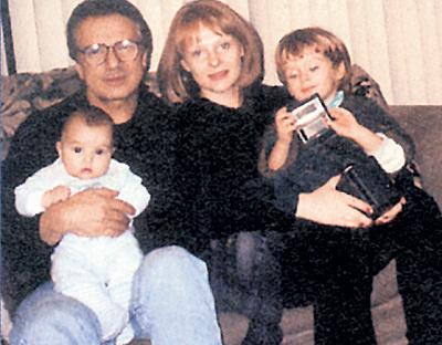 ЦЫВИНА с американским супругом Джорджем ПУСЕПОМ и их детьми - Женей и Зиночкой