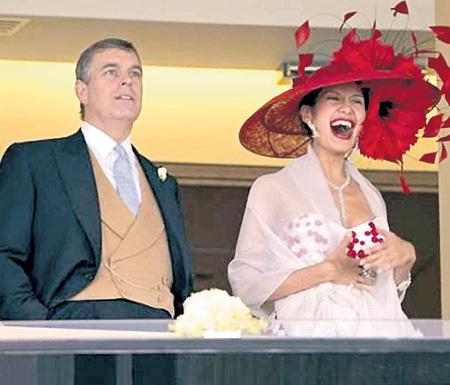 Благодаря союзу с принцем ЭНДРЮ, сыном королевы Великобритании ЕЛИЗАВЕТЫ II, Гога познакомилась с Её Королевским Величеством