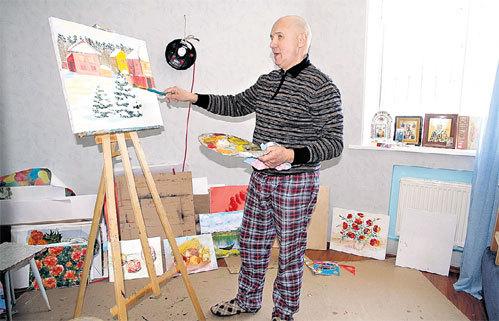 В особняке есть отдельная комната для занятий живописью