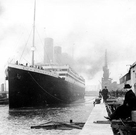 9 апреля 1912 года. «Титаник» в порту Саутгемптона за день до отплытия в Америку