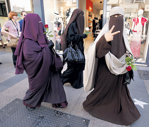 В некоторых западныхах стран запретили носить чадру