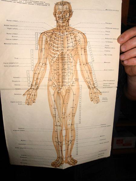Точки на человеческом теле, через которые проходит лечение