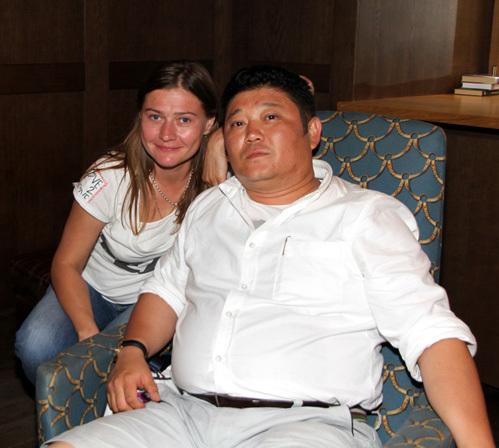 Мария ГОЛУБКИНА с казахским другом
