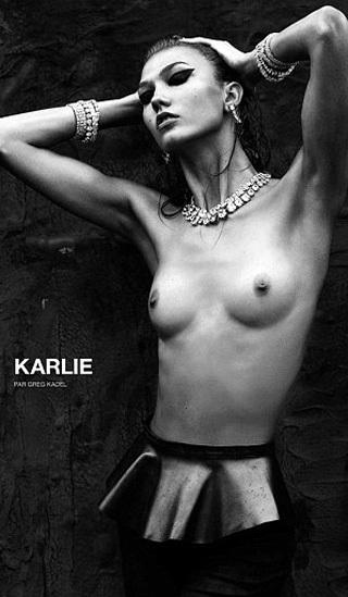 Снимки супермодели Карли КРОСС, опубликованные журналом  Numéro, заметно отличаются от оригиналов. На страницах глянца у модели «стерты» слишком выпирающие рёбра