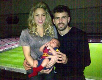 ШАКИРА и Жерар ПИКЕ объясняют, что имя сыну они дали не в честь клуба «Милан», просто им понравилось это древнеримское слово