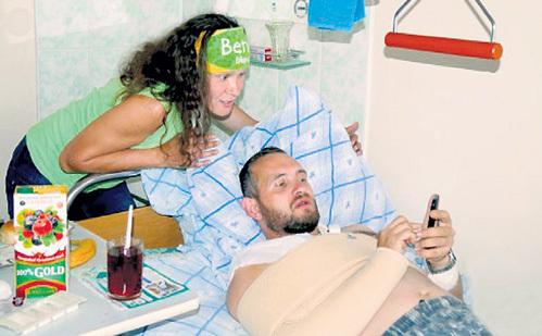 В результате наезда автомомбиля велосипедист оказался в больнице