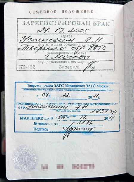 была документы для смены фамилии в паспорте при разводе дало
