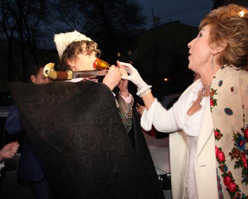 Прохор ШАЛЯПИН с женой Ларисой КОПЕНКИНОЙ