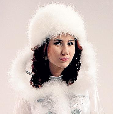 ...а Анна ЧАПМАН станет Снегурочкой. Фото предоставлено каналом РЕН ТВ