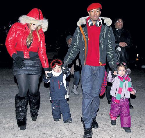 Под Новый год Мэрайя КЭРИ и Ник КЭННОН отвезли двухлетних близнецов в горы