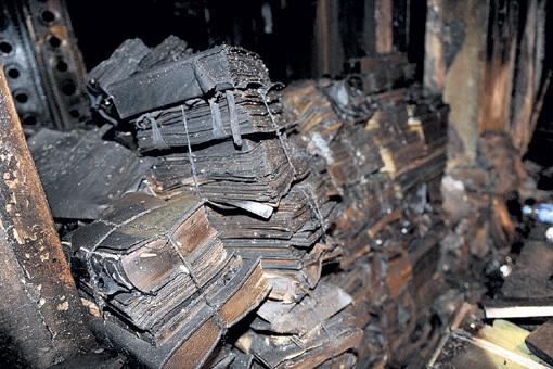 ...в частности, огонь уничтожил бумаги, касающиеся теракта 11 сентября 2001 года