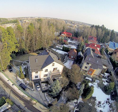 Загородный дом Ильи РЕЗНИКА с птичьего полёта