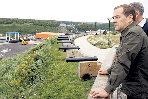 Дмитрий МЕДВЕДЕВ: чужой земли не надо нам ни пяди, но и своей вершка не отдадим. Фото: РИА «Новости»