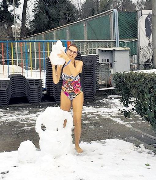 ...Эвелине никакой мороз не страшен