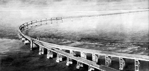 Послевоенный проект должен был соединить косу Чушка и берег Крыма