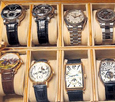 ...коллекцию часов на 100 миллионов рублей...