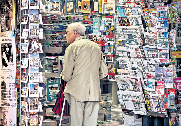 Интернет в Европе появился намного раньше, чем в России, но киоски печати там по-прежнему процветают и радуют широким ассортиментом