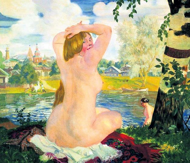 Во времена Бориса КУСТОДИЕВА худую девушку приняли бы за больную («Купальщица», 1921 год)