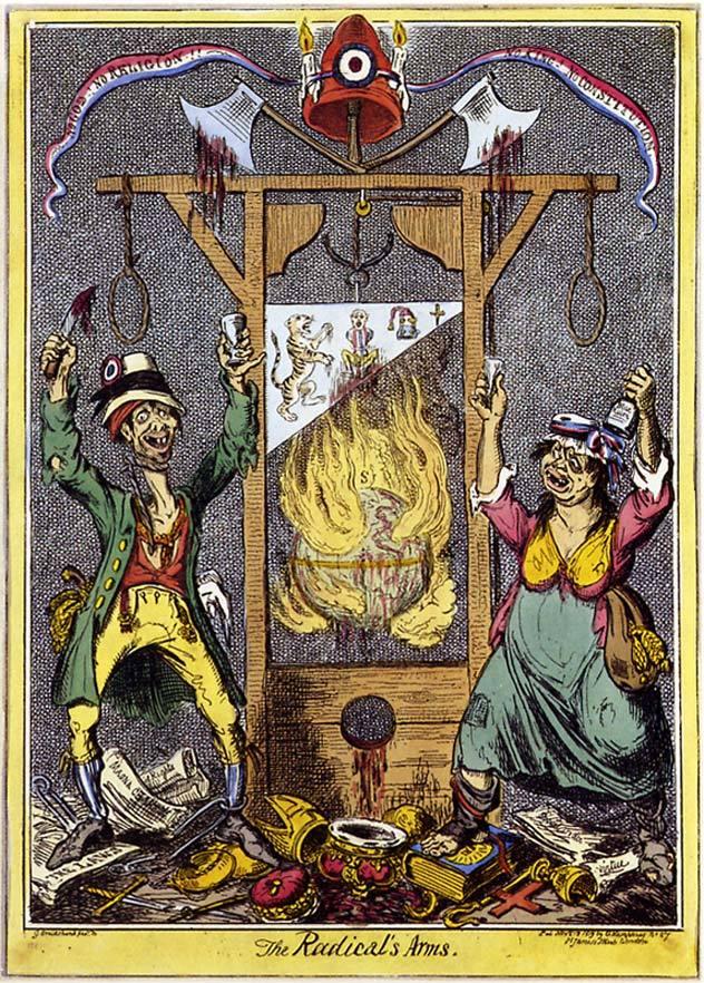 Английская карикатура 1819 года. Фото: Википедия