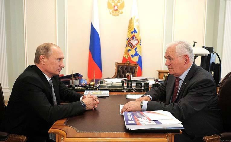 Леонид Рошаль и Владимир Путин в 2012 году. Источник: kremlin.ru