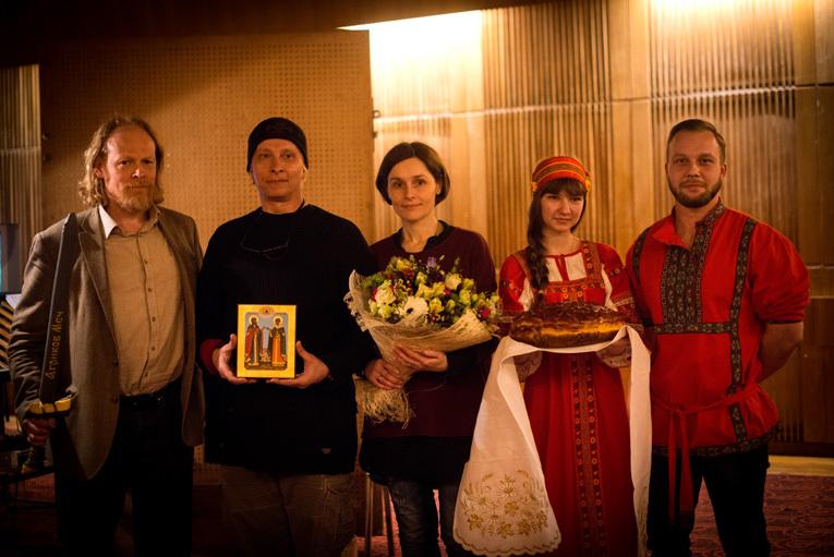 Иван Охлобыстин озвучивает зайца вмультфильме «Сказ оПетре иФевронии»