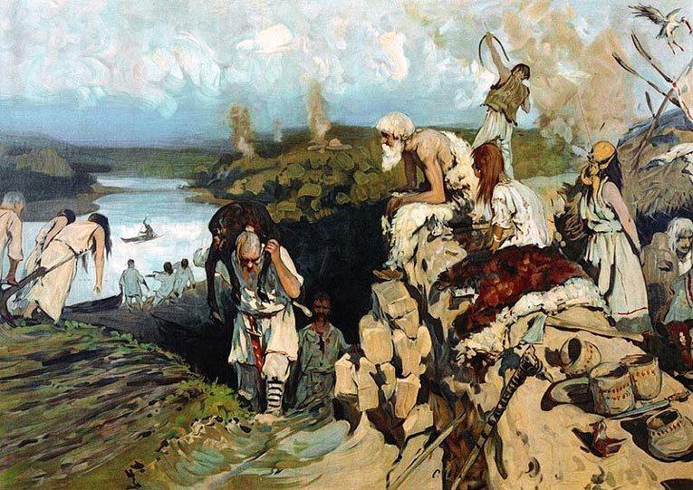 Жильё восточных славян. Источник: wikimedia.org