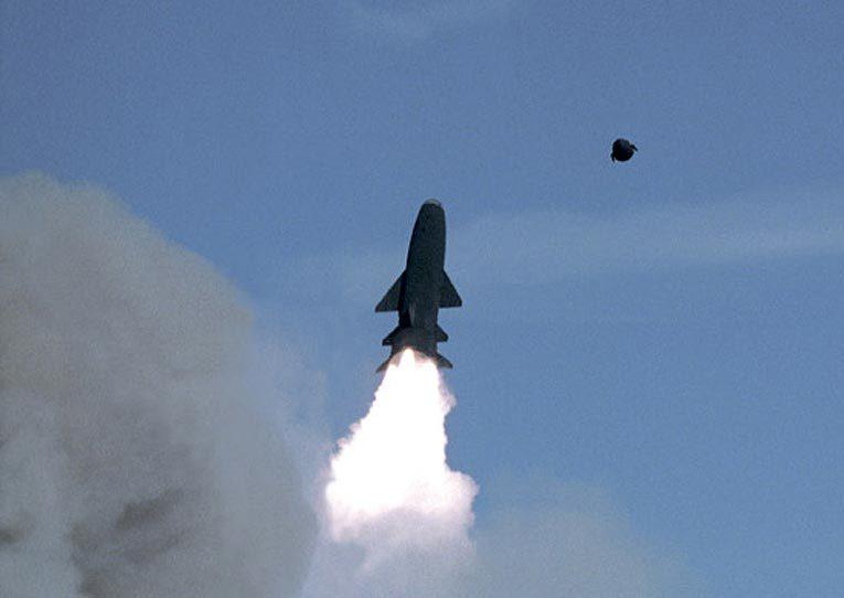 ПКР «Гранит» после запуска с корабля. Источник: militaryphotos.net