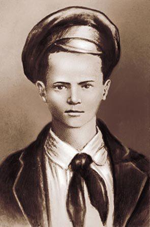 Портрет Павлика Морозова, созданный по единственной сохранившейся фотографии. Фото: Википедия