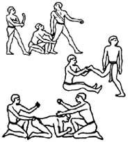 ВЕСЕЛЫЕ КАРТИНКИ НА СТАРИННОМ ПАПИРУСЕ: массаж по - древнеегипетски (а вы что подумали?)