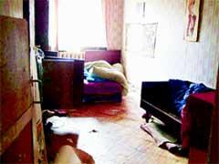 МЕСТО ТРАГЕДИИ: комната, где произошло двойное убийство
