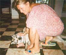 ЛЕГЕНДАРНАЯ МАРИНА: из близких рядом с ней только пес