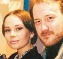 ТВОРЧЕСКАЯ ПАРА: Лена с мужем Максом Осадчим