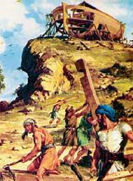 БИБЛЕЙСКИЙ СЮЖЕТ: великаны строят огромную лодку