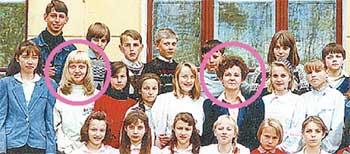 6 «В» КЛАСС: учительница математики Ольга Рыбакова (в круге) знала все тайны своих девчонок