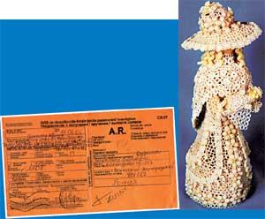 КЛОНИРОВАННАЯ ЖАДИ (СПРАВА): и уведомление о том, что письмо с фотографиями куклы бразильская звезда получила