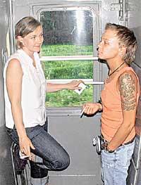 ...и пошла курить с Женей Бурлаковой