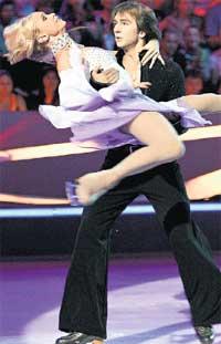 ОКСАНА ГРИЩУК И ПЕТР КРАСИЛОВ: самая эффектная пара &#034Танцев на льду&#034