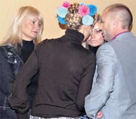 СЕМЕЙНЫЙ СОВЕТ: Александр Жулин, Татьяна Навка, ее сестра и мама