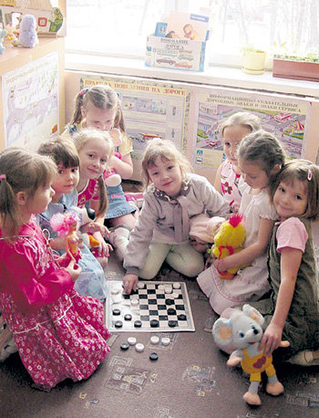 В детсадовской группе «Паутинки» растут шашечные принцессы