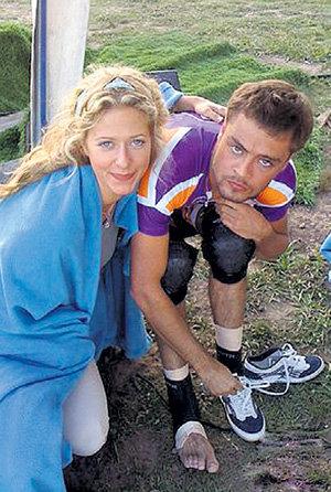 С Иваном НИКОЛАЕВЫМ на шоу «Жестокие игры» (фото odnoklassiki.ru)