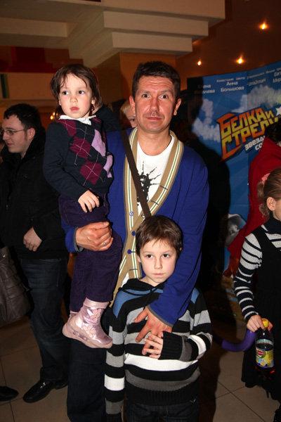 Сергей КРИСТОВСКИЙ с дочкой Алисой и сыном Женей
