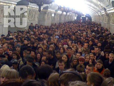 В столичной подземке образовалась давка. Фото: kp.ru